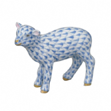 Herend Porcelain Fishnet Figurine of a Baby Lamb